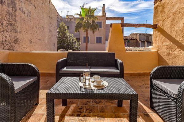 Lounge-Terrasse mit Ausblick