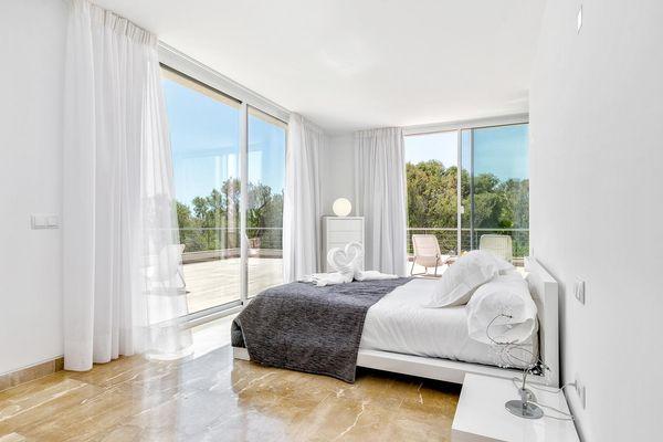 Schlafzimmer mit tollem Blick