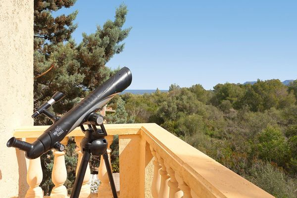 Aussicht vom Balkon in die Landschaft