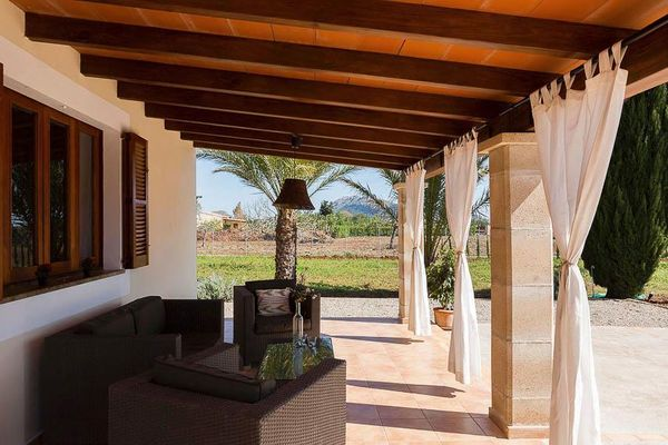 Casa Romantica - Überdachte Terrasse