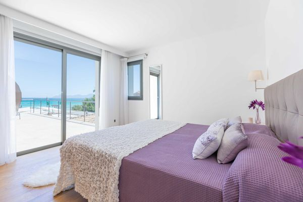 Schlafzimmer mit Strandblick