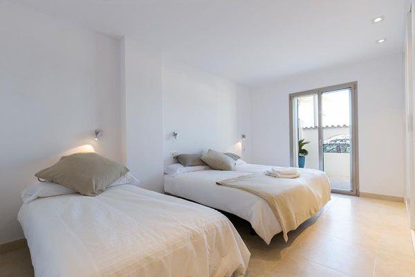 Holland - Schlafzimmer mit zwei Einzelbetten