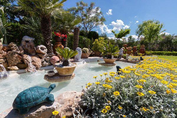 Liebevoll angelegter Gartenteich